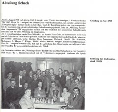 Gründung 1950 und Stadtmeisterschaft 1955/56